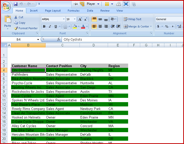 11. crystal reports export to Excel - Excel report