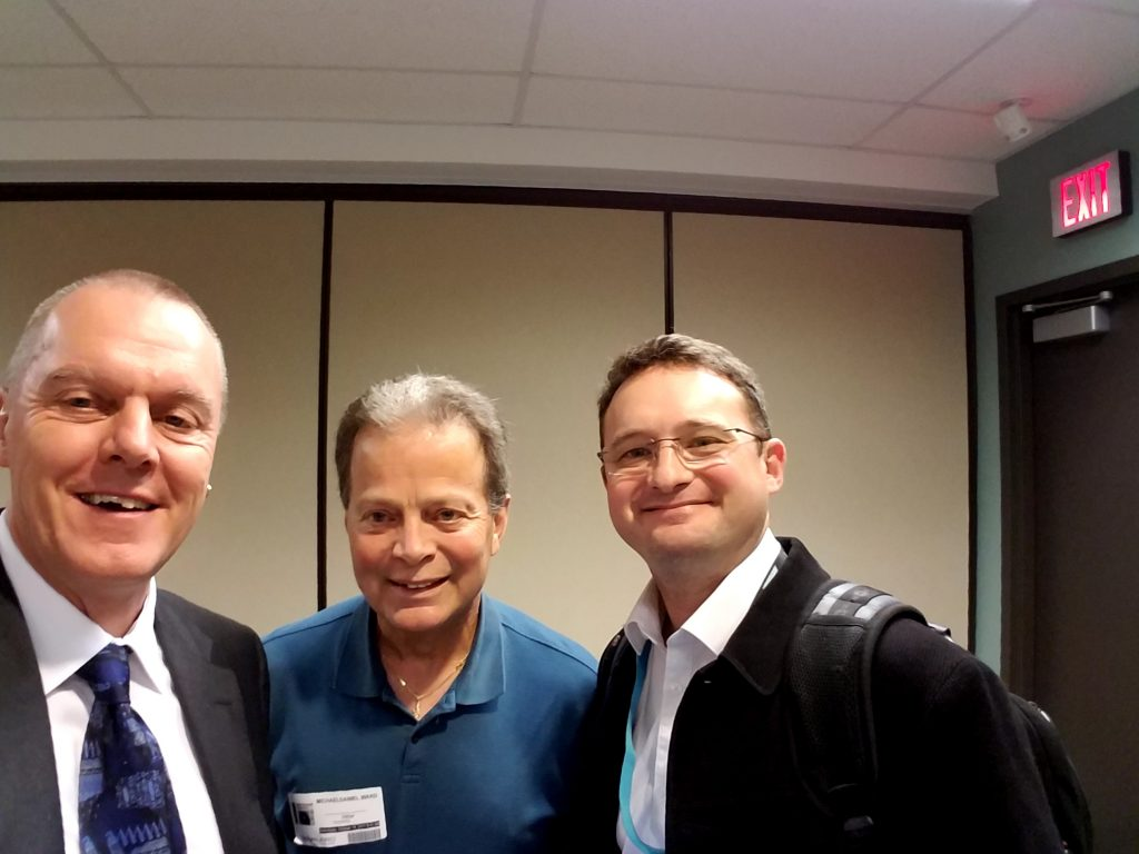 Paul Grill, Michael Ward and Samuel Plichouk at a BO User Group