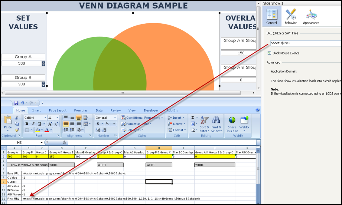 Venn diagram using excel roho4senses venn diagram using excel ccuart Image collections