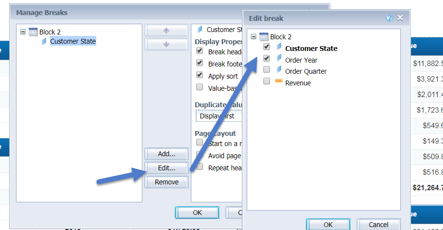 Understanding Same Level Break – new feature added in Web Intelligence 4.2 SP05 Image 3